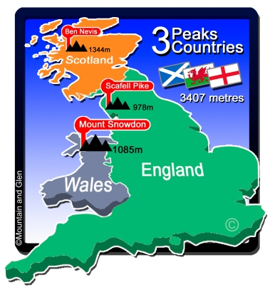 three peaks map