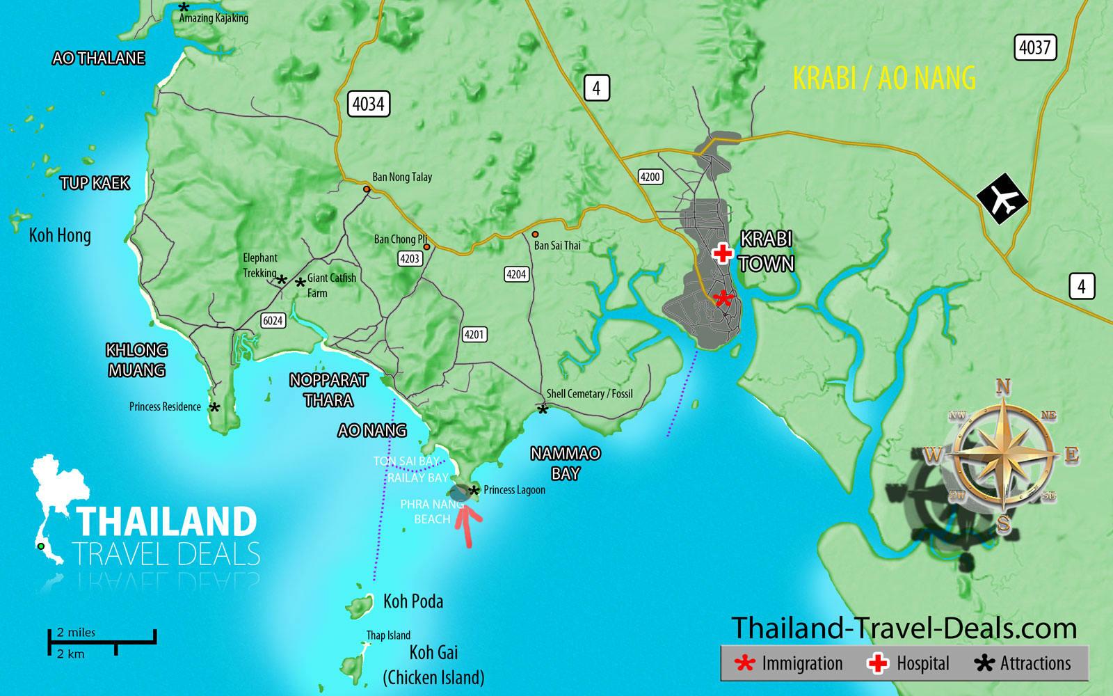 Hotels at phra nang beach
